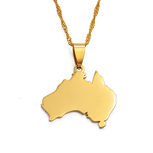 DSHT Australian Commonwealth Map Female aus National Map Jewelry Pendant And Necklace # 021521
