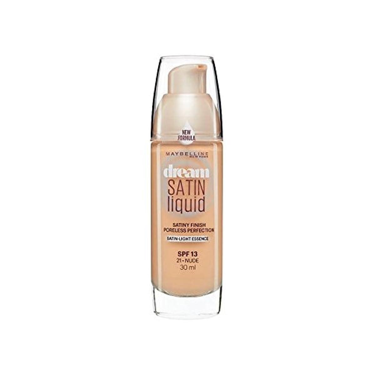 規制ポルティコアトムメイベリン夢サテンリキッドファンデーション21ヌード30ミリリットル x4 - Maybelline Dream Satin Liquid Foundation 21 Nude 30ml (Pack of 4) [並行輸入品]