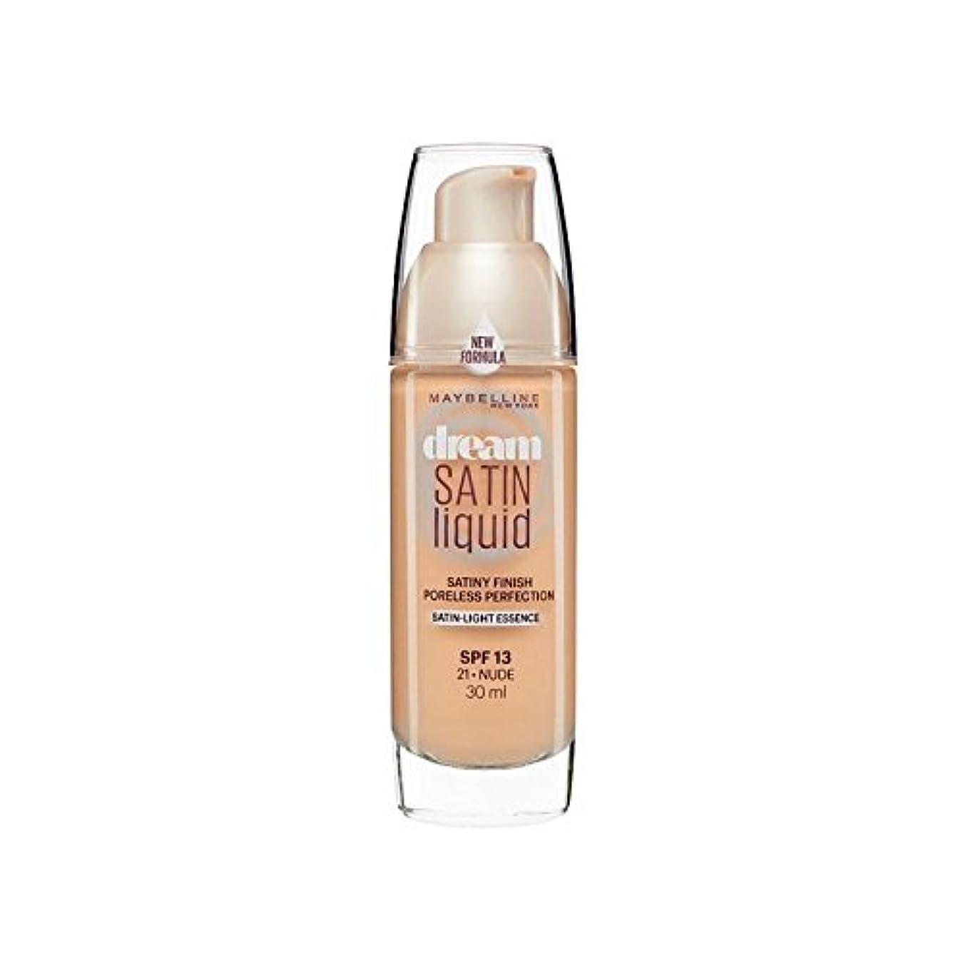 試み哲学主観的メイベリン夢サテンリキッドファンデーション21ヌード30ミリリットル x4 - Maybelline Dream Satin Liquid Foundation 21 Nude 30ml (Pack of 4) [並行輸入品]