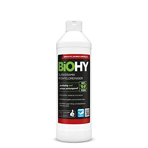 BiOHY Reiniger voor glaskeramische kookplaat (500ml Fles) | Ideaal voor het reinigen en onderhouden van de kookplaat en inductie (Glaskeramik Kochfeldreiniger)