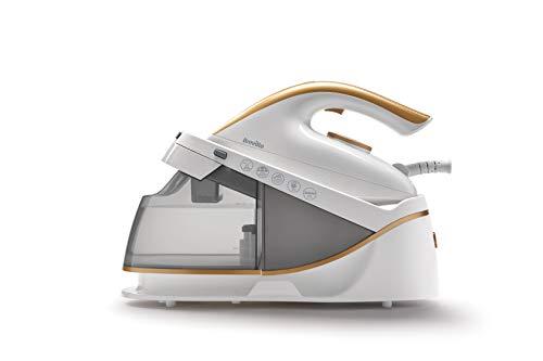 Breville PRESSXPRESS 2400W ferro da stiro con caldaia, piastra multidirezionale in ceramica, colpo vapore 230 g, getto vapore verticale 100g/min, pressione 5 bar, bianco
