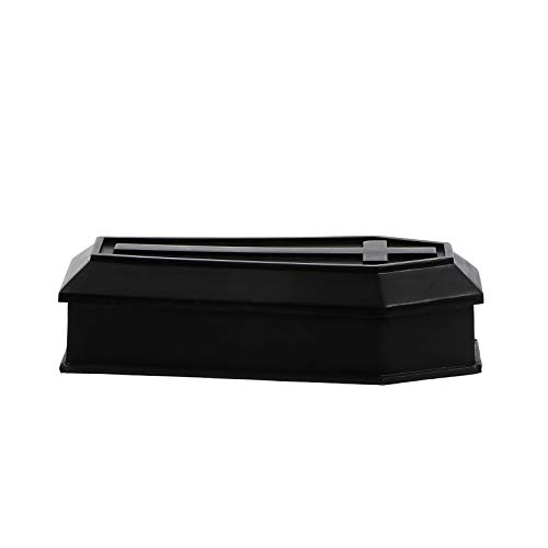 Garneck - Cercueil prop de plástico falso para cenizas o cenizas, esqueletos, cercuebros, caja artesanal, accesorios delicados para decoración de casa