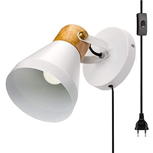 Lightsjoy Aplique de Pared Lámpara Industrial Luz Vintage Luz Colgante de Pantalla de Metal y Cristal Estilo Rústico Casquillo E27 No Incluye Bombilla para Decoración Interior