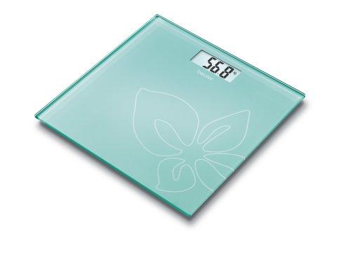 Beurer GS 27 Design Line - Báscula de cristal, color verde