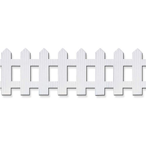 """Pacon Bordette Picket Fence, White, 6"""" x 16', 1 Roll"""