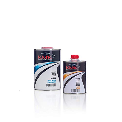 KMK Kit Barniz HS 1 L (Catalizador Normal) - Kit Antiscratch Clear Coat 1 L (Normal Hardener)