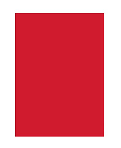 folia 6320 - Tonpapier hochrot, DIN A3, 130 g/qm, 50 Blatt - zum Basteln und kreativen Gestalten von Karten, Fensterbildern und für Scrapbooking