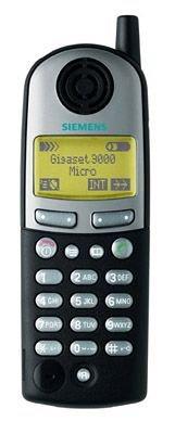 Siemens Gigaset 3000 Micro Telefon schnurlos digital 100Nr LCD 15/200Std. mitternachtsblau