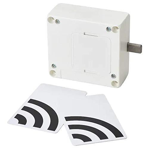 IKEA ROTHULT Serratura smart, bianco, sono incluse due chiavi elettroniche.