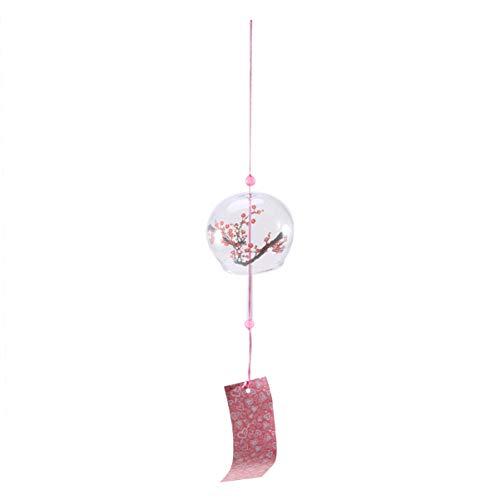 Amosfun Japanisches Windspiel wintersüßes Glaswindglocken dekoratives hängendes Windspiel das Dekor für Autoinnenhaus hängt