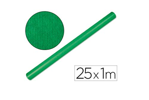 Liderpapel Papel Kraft Rollo 1x25 Mt Verde Fuerte