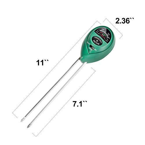 iPower 3-in-1 Soil Tester Meter, Moisture, pH,Light Meter