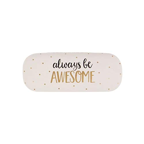 Metallic Monochrome Always Be Awesome Glasses Case Hard
