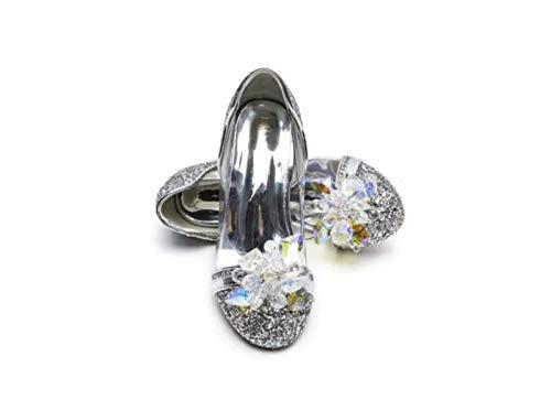 ELSA & ANNA® Mädchen Gute Qualität Schuhe Prinzessin Schnee Königin Gelee Partei Schuhe Sandalen SIL15-SH (Euro 28 - Innenlänge: 18.7cm, SIL15-SH)