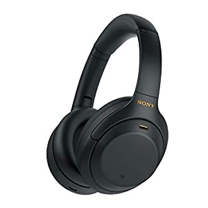 Sony WH-1000XM4 Wireless Noise Canceling Over-Ear Headphones (Black) with Sony WI-SP500 in-Ear Sports Wireless Headphones (Black) Bundle (2 Items)