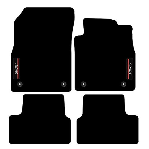 Carsio Tailored Carpet Car Floor Mats with logo FOR Vauxhall Astra J MK6 2010 to 2015