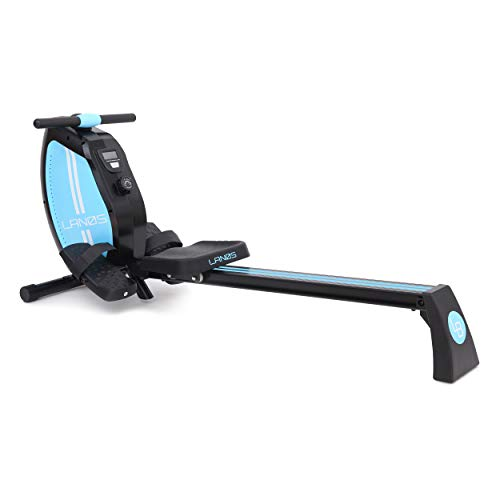 Lanos Rowing Machine| 8-Level Adjustable Magnetic Resistance | LCD Monitor | Compact for Home Workout| Smooth Rowing Stroke | Tone Muscle Improve Heart Health