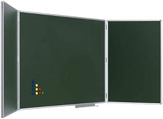 Pizarra Tríptica Verde Acero Vitrificado 90 x 240 cm: Amazon ...