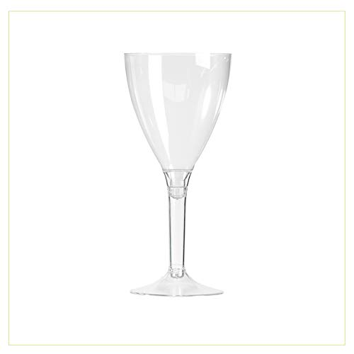 Palucart Copas de Vino de plástico PS 180 CC + Tallos Transparentes...