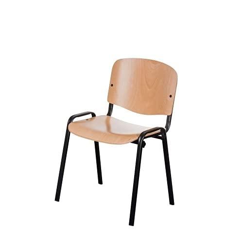 Besucherstühle Wartezimmerstühle Konferenzstühle ISO (Buche/Schwarz)
