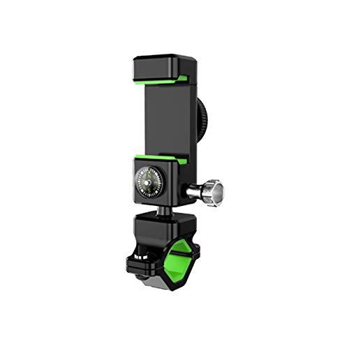 Soporte Movil Bicicleta Montaña, 360° Rotación Soporte Movil Moto Bici (Con Brújula), Anti Vibración Porta Telefono Motocicleta Compatible para iPhone 11 X 8 7 Samsung s10 4.5-7.0' Smartphones