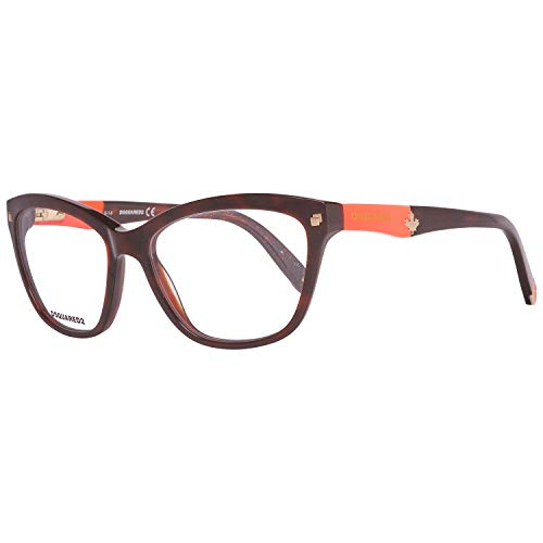 DSQUARED2 D Squared Brillengestelle Dq5115 001-54-16-140 Monturas de gafas, Negro (Schwarz), 54.0 para Mujer