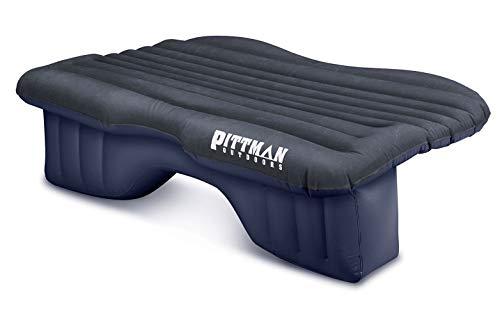 Pittman Outdoors AirBedz Backseat Heavy Duty PVC Air Mattress with Portable DC Air Pump, Mid-Size, Black