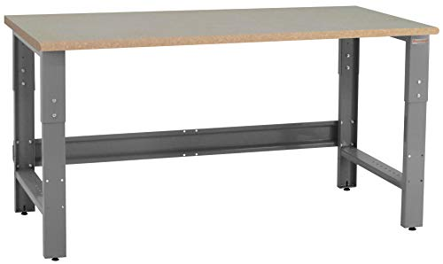 BenchPro RPB2448 Premium Table & Workbench: 1-1/8' Thick Particle Board Top,Gray Frame/Particle...