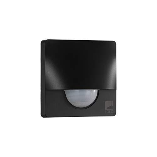 EGLO Bewegungsmelder Detect me 3, Bewegungssensor aus Kunststoff, Farbe: Schwarz, IP44