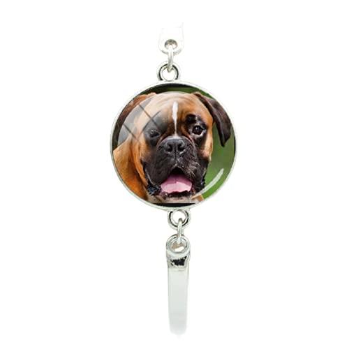Pulsera de perro inteligente de gran tamaño de pelo corto Boxer Jack Russell redondo traje de...