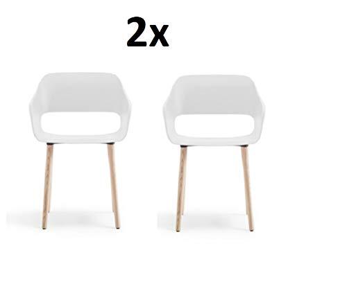 Pedrali, babila 2755 frame esche, zitschaal wit, schaalstoel, set van 2, stoelen, design ODO fioravanti