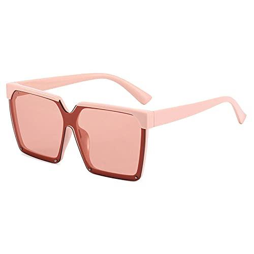 JINZUN Gafas de Sol a la Moda Trend Box Gafas de Sol Gafas de protección Solar Anti-UV Unisex Polvo/Hoja de Polvo