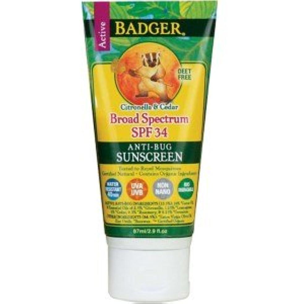 装置腐食するおもてなし[海外直送品] バジャー(Badger) サンスクリーン SPF30 87ml (虫よけ)