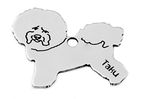 Llavero de acero inoxidable con colgante de bichon Freisépode para perro, bolsa de perro, regalo...