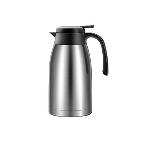 Miao. 2L koffie theepot roestvrij staal dubbelwandig vacuüm geïsoleerde pan isoleerkan warmwaterkruik (zilver)