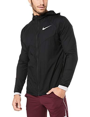 Nike Herren Windrunner Laufjacke, Black/Black/Black/Reflective Silver, L