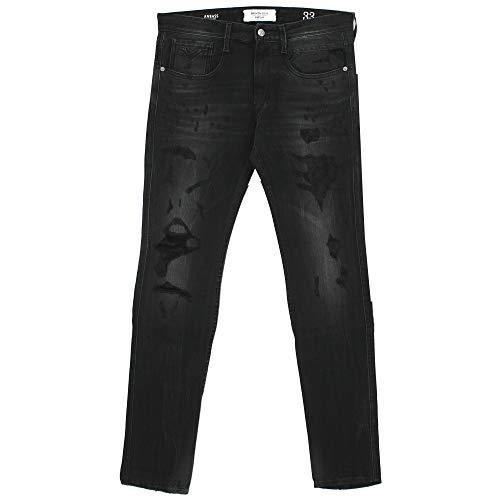Preisvergleich Produktbild Replay,  Anbass,  Herren Jeans Hose,  Stretchdenim,  Black Broken Edge,  W 33 L 34 [21832]