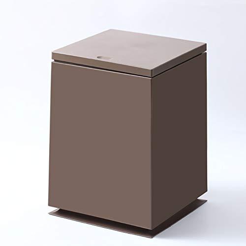 HSGei Doppelstreubehälter 50 Liter Kunststoff (PP) Küche Bad Büro Bio (49 x 42 x 58,5 cm),Braun