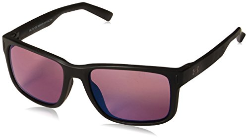 Under Armour Assist Sunglasses, Black / Tuned Golf Lens, 61 mm