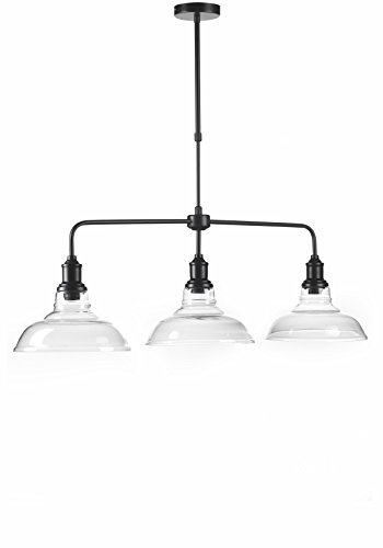 ONLI - Trilancere Hanglamp, stedelijk/industriële stijl, metaal, zwart, drie lampen