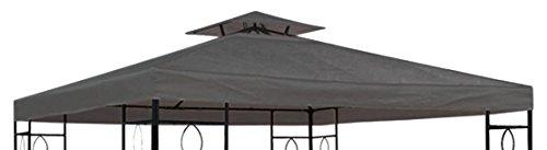 habeig Ersatzdach, 310g/m² Wasserdicht, circa 3 x 3 m, Pavillondach Wasserfest, anthrazit, 298 x 298 x 18 cm, 73004