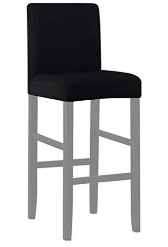 Zerci Barhocker Stuhlhusse, elastisch, für Zuhause, weich, Schwarz, Einheitsgröße (Nur Stuhlüberzug, Kein Stuhl)
