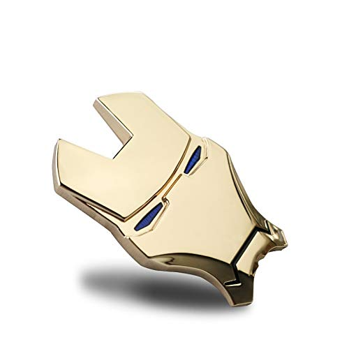 Csfssd 3D dreidimensionale Persönlichkeit Metall Auto-Logo Iron Man Avengers Auto Aufkleber Auto Aufkleber Schwanz Dekoration verändert (Color : Golden)