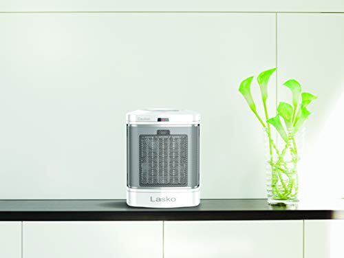 Lasko CD08200 Small Portable Ceramic Space Heater for Bathroom and Indoor Home Use, White