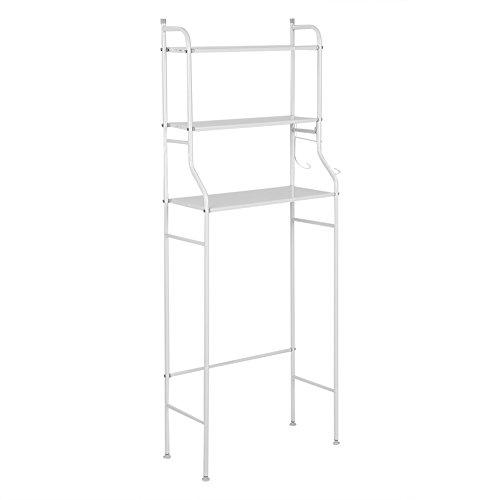 Organizador de almacenamiento para el inodoro, 3 estantes de hierro para el baño, ahorra espacio en el estante de almacenamiento para toallero de baño