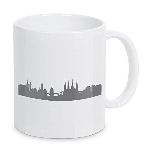 artboxONE Tasse Bamberg 02 Dunkelgraue Skyline von 44spaces - Kaffeetasse Reise