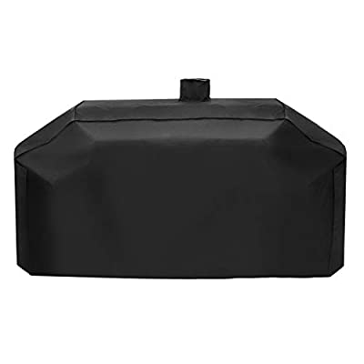 "UNICOOK Heavy Duty Gas and Charcoal Combo Grill Cover, Compared to Smoke Hollow GC7000, Water and UV Resistant, Fits Combo Grill of Smoke Hollow, Pit Boss and More, 79"" W x 23"" D x 48"" H, Black"