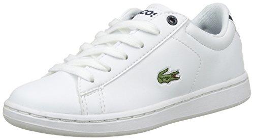 Lacoste Carnaby Evo, Unisex-Kinder Sneaker, Weiß (weiß / dunkelblau weiß / dunkelblau), 28 EU (10 UK)