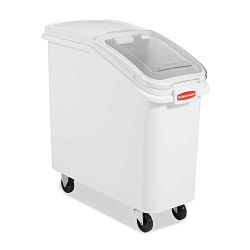 Rubbermaid Commercial ProSave Shelf-Storage Ingredient Bin With Scoop Plastic Stackable 400-cup capacity White FG360088WHT