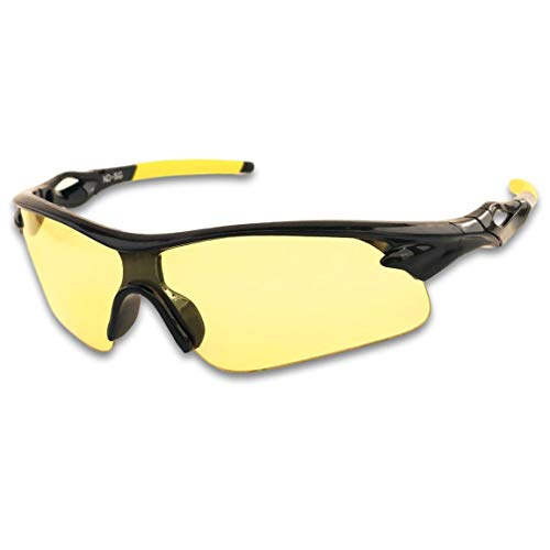 HD Night Driving Glasses- Anti Glare Polarized Night Vision Reduce Eye Strain Men Women (High Definition) Amber Yellow
